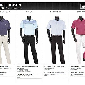 2012 U.S. Open (Adidas Golf): Dustin Johnson