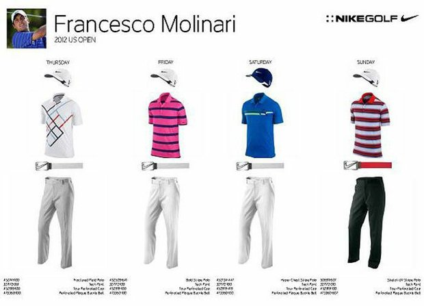 2012 U.S. Open (Nike Golf): Francesco Molinari
