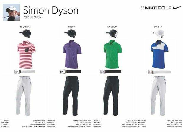 2012 U.S. Open (Nike Golf): Simon Dyson