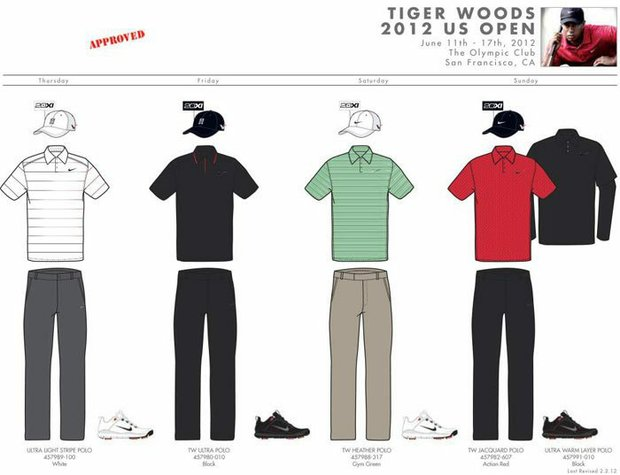 2012 U.S. Open (Nike Golf): Tiger Woods