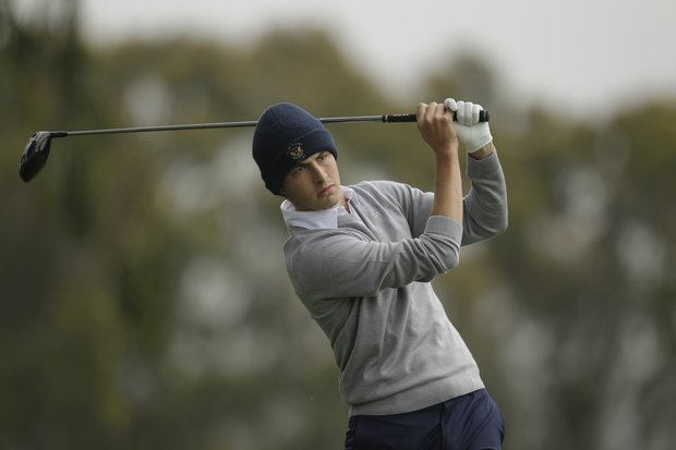 Amateur Patrick Cantlay during a practice round for the U.S. Open Championship golf tournament Thursday, June 14, 2012, at The Olympic Club in San Francisco.