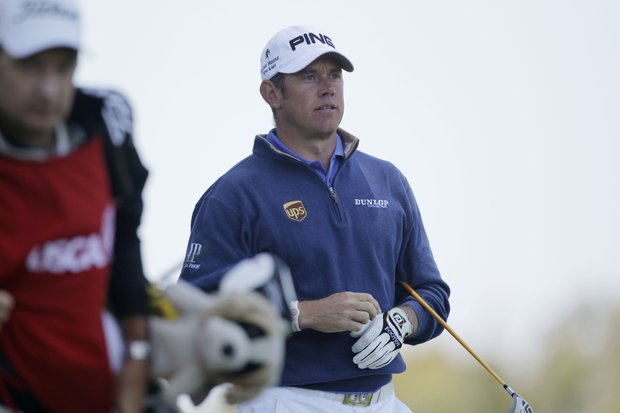 Lee Westwood, of England, during the first round of the U.S. Open Championship golf tournament Thursday, June 14, 2012, at The Olympic Club in San Francisco.