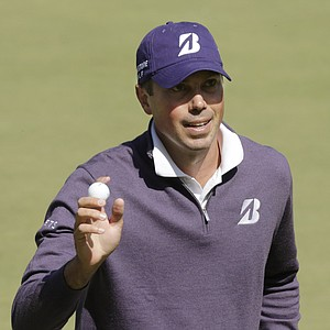 Matt Kuchar acknowledges the crowd after making a putt on the 18th hole during the first round of the U.S. Open Championship golf tournament Thursday, June 14, 2012, at The Olympic Club in San Francisco.