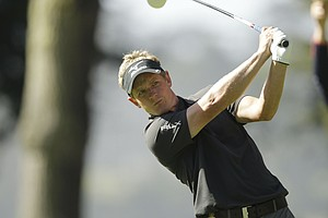 Luke Donald, of England, during the first round of the U.S. Open Championship golf tournament Thursday, June 14, 2012, at The Olympic Club in San Francisco.