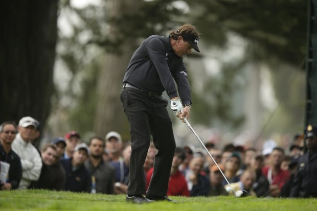 Phil Mickelson during the first round of the U.S. Open Championship golf tournament Thursday, June 14, 2012, at The Olympic Club in San Francisco.