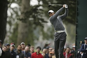 Tiger Woods during the first round of the U.S. Open Championship golf tournament Thursday, June 14, 2012, at The Olympic Club in San Francisco.