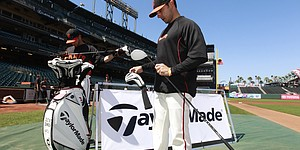 Dustin Johnson's visit to AT&T Park