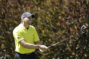 Sergio Garcia, of Spain, during the second round of the U.S. Open Championship golf tournament Friday, June 15, 2012, at The Olympic Club in San Francisco.