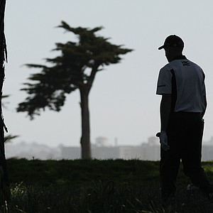 Jim Furyk walks to the second tee during the second round of the U.S. Open Championship golf tournament Friday, June 15, 2012, at The Olympic Club in San Francisco.
