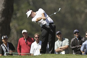 Amateur Beau Hossler hits a shot on the second hole during the second round of the U.S. Open Championship golf tournament Friday, June 15, 2012, at The Olympic Club in San Francisco.