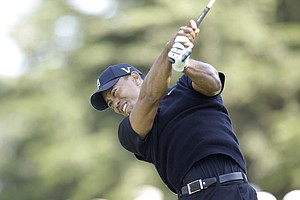 Tiger Woods during the second round of the U.S. Open Championship golf tournament Friday, June 15, 2012, at The Olympic Club in San Francisco.