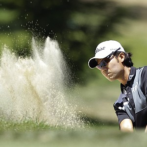 Kevin Na hits out of a bunker on the fifth hole during the third round of the U.S. Open Championship golf tournament Saturday, June 16, 2012, at The Olympic Club in San Francisco.