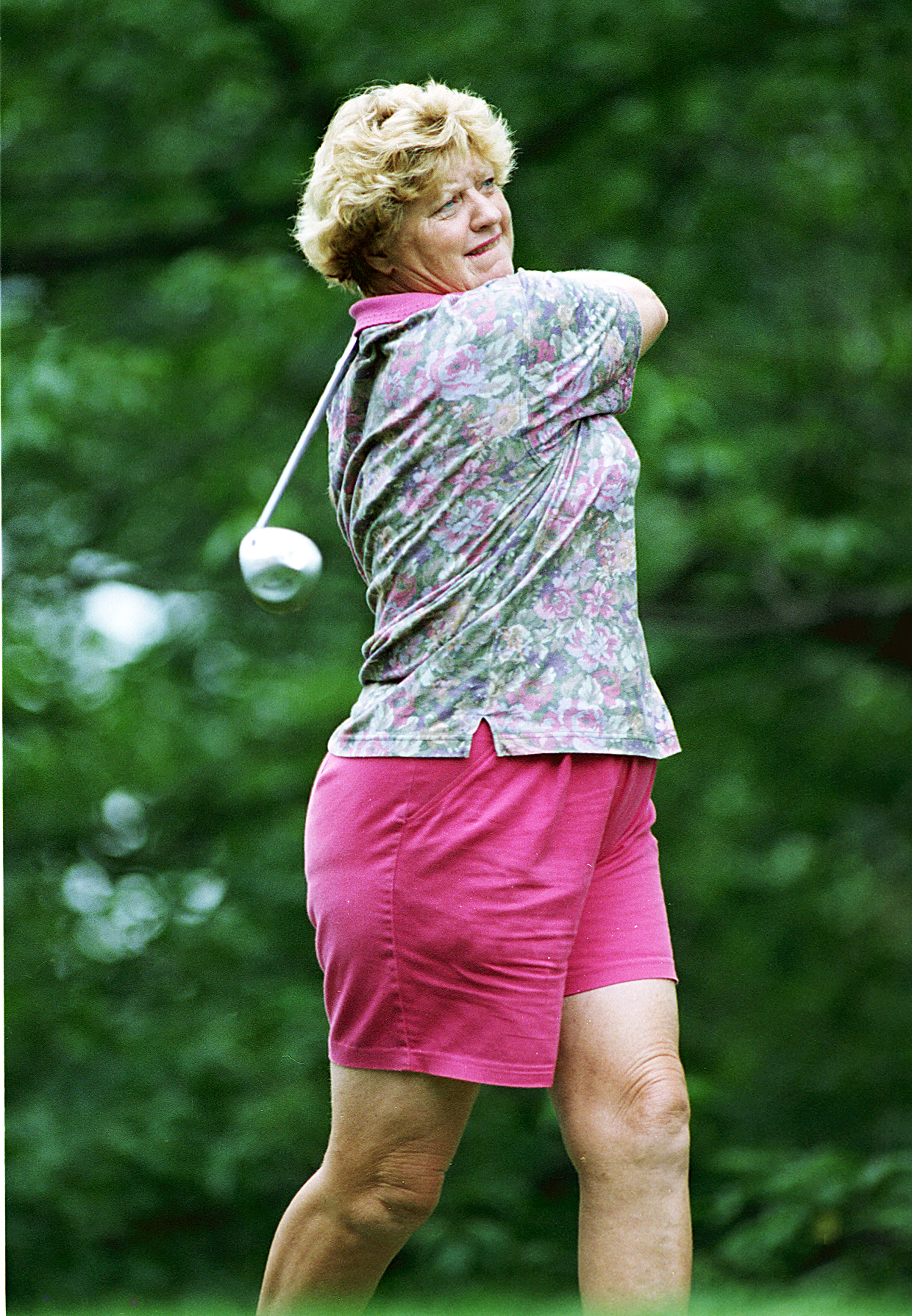 Joanne Carner, the first recipient of a women's golf scholarship.