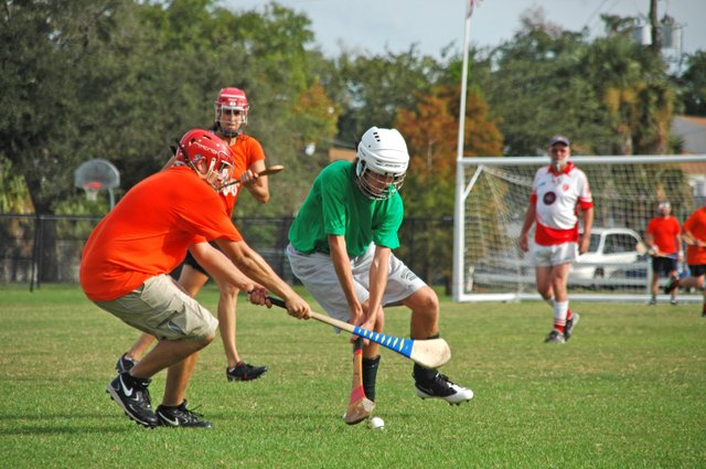 Hurlers play a scrimmage on a field in Winter Park's Lake Island Park, which will be renamed Martin Luther King, Jr. Park in honor of the civil rights leader.