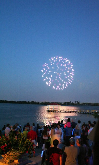Fireworks sparkle over Lake Baldwin at Baldwin Park&#39;s Independence Day celebration July 1. 