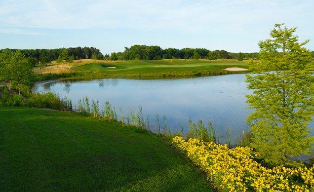 The 17th hole at the Bayside Resort Golf Club in Dewey Beach, Del.