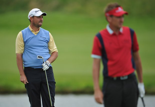 David Howell, left, and Ian Poulter finished T-4 at the French Open.