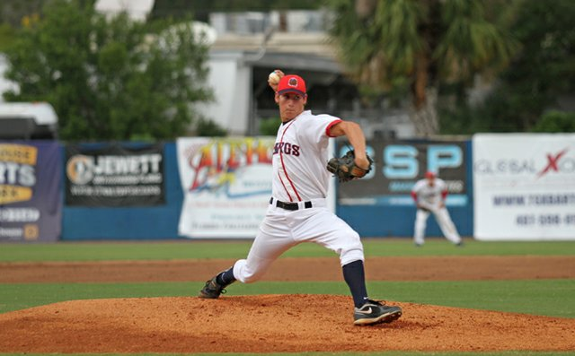 Evan Incinelli struck out three and gave up only a run in the Dawgs' 5-4 win over the Orlando Monarchs July 5.