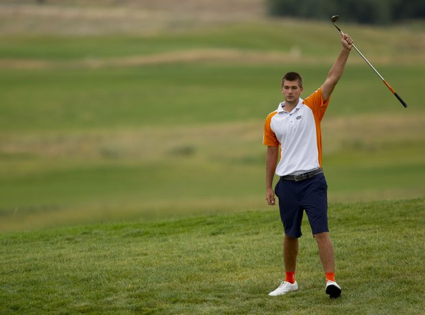 T.J. Vogel during the final match of the U.S. Amateur Public Links.
