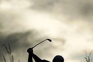 Tiger Woods hits a shot during the second practice round prior to the start of the 141st Open Championship at Royal Lytham & St. Annes.