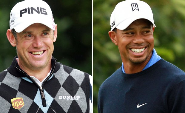 Lee Westwood and Tiger Woods