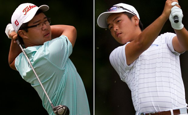 Jim Liu, left, and Andy Shim will face off in Saturday's U.S. Junior Amateur final at the Golf Club of New England in Stratham, N.H.