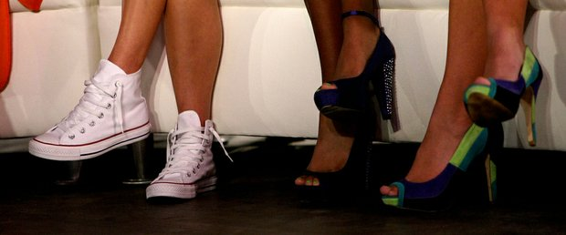 Christina Stockton opted to wear her Converse sneakers on Tuesday during the filming of the Big Break Reunion show.