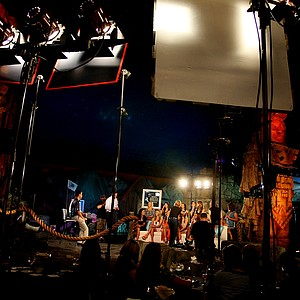 The set during the filming of the Big Break Atlantis Reunion show at the Latin Quarter of Universal's City Walk in Orlando, Fla.