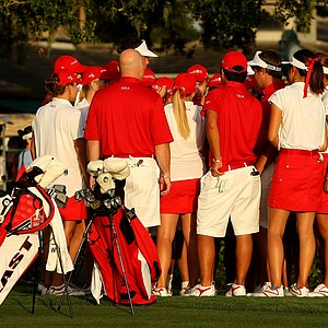 The East team gathered for a pep talk prior to the 2012 Wyndham Cup at Bay Hill Club and Lodge.