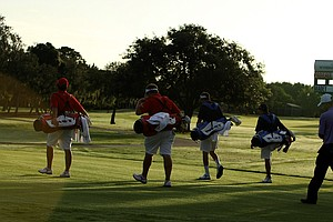 The first match of the Morning Four-Ball matches head out on Tuesday at the 2012 Wyndham Cup.