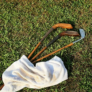 Hickory Clubs used at Oakhurst Links.