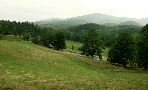 A view of the scenic Oakhurst Links in White Sulphur Springs, West Virginia.