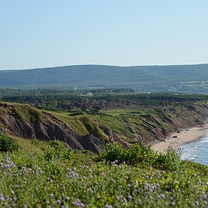 View of the front nine looking south towards Cabot Links.