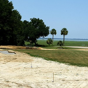 Hole No. 9 during renovations at Old Tabby Links on Spring Island in South Carolina.