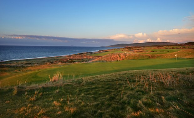 The second hole at Cabot Links.