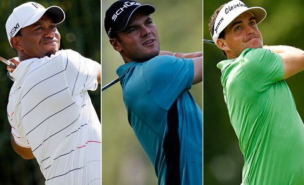 Tiger Woods, Martin Kaymer and Keegan Bradley