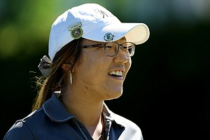 Lydia Ko of New Zealand leads after the first round of stroke play at the 2012 U. S. Women's Amateur Championship at The Country Club. She posted a 66.
