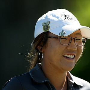 Lydia Ko is all smiles after the first round of stroke play at the 2012 U. S. Women's Amateur Championship at The Country Club in Cleveland.
