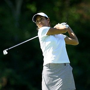 Paula Reto of South Africa hits a shot at No. 17 during the 2012 U. S. Women's Amateur Championship at The Country Club.