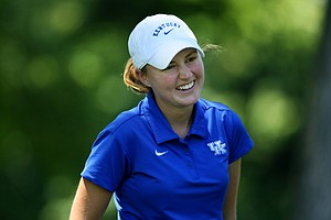 Lucy  Nunn, the University of Kentucky assistant coach talks about her play during the second round of stroke play at the 2012 U. S. Women's Amateur Championship. Nunn missed the cut.