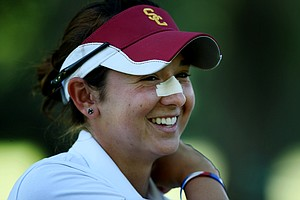 Lisa McCloskey of Houston, Texas celebrated her birthday during the second round of stroke play at the 2012 U. S. Women's Amateur Championship at The Country Club in Cleveland. McCloskey posted a second round 70.