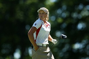 Brooke Mackenzie Henderson of Canada during the second round of stroke play at the 2012 U. S. Women's Amateur Championship.