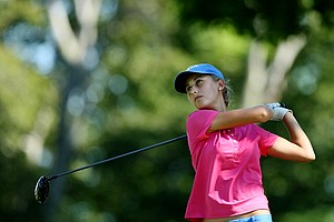 Abby Newton of Katy, Texas during the second round of stroke play at the 2012 U. S. Women's Amateur Championship at The Country Club in Cleveland.
