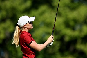 Stephanie Meadow of Northern Ireland during the second round of stroke play at the 2012 U. S. Women's Amateur Championship at The Country Club in Cleveland. Meadow posted an 80 to miss the cut.