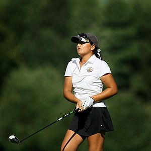 Latanna Stone, 10,  watches a shot at No. 16 during the second round of stroke play at the 2012 U. S. Women's Amateur Championship. Stone is the youngest to qualify for a Women's Amateur Championship.