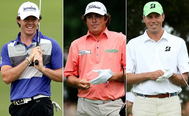 Rory McIlroy, Jason Dufner and Matt Kuchar