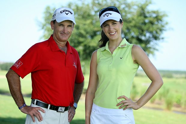 Sandra Gal with her swing coach Andrew Park of David Leadbetter Academy.