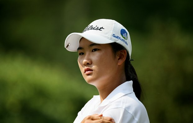 Su-Hyun Oh of Australia during the Round of 64 at the 112th U. S. Women's Amateur Championship.
