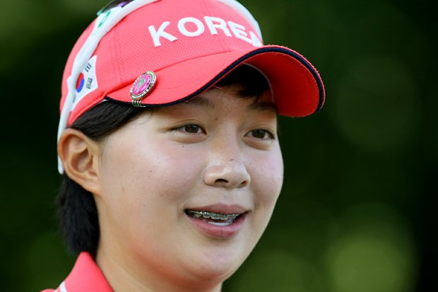 Hyo-Joo Kim during the Round of 64 at the 112th U. S. Women's Amateur Championship. Kim was the medalist during stroke play.