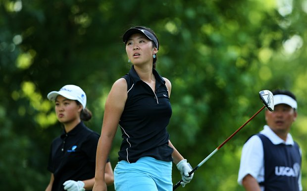Erynne Lee, center, defeated Minjee Lee, 5&4 during the Round of 64 at the 112th U. S. Women's Amateur Championship. Minjee is the current U. S. Girls Junior Champion.